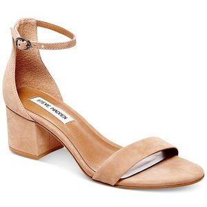 Steve Madden Irenee Nubuck Block Heel Sandals